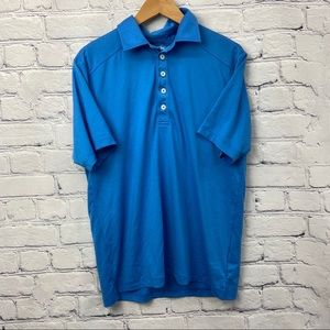 Adidas Mens Blue Striped Short Sleeve Active Top
